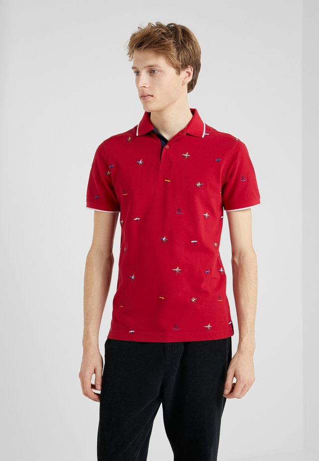 SLIM FIT - Polo shirt - red
