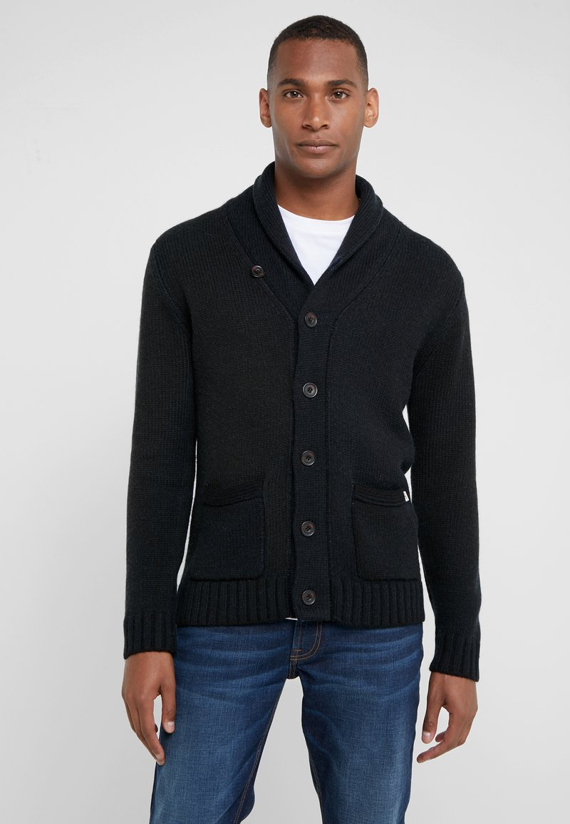 HKT by Hackett - SHAWL CARDI - Strickjacke - navy blue