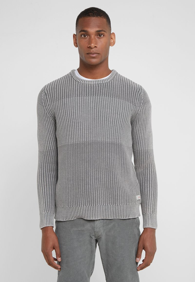HKT by Hackett - CHUNKY STITCH CREW - Strickpullover - thistle