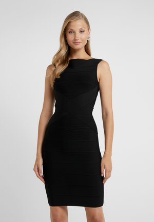 OFF SHOULDER BANDAGE DRESS - Robe fourreau - black