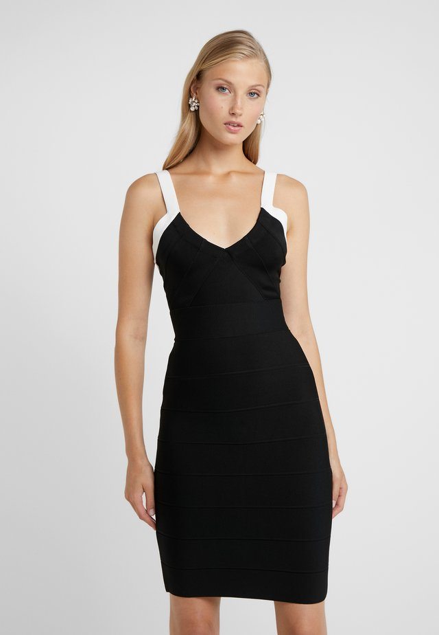 DRESS  - Shift dress - black/alabaster combo