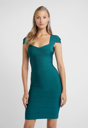 VNECK CAP SLEEVE DRESS - Robe fourreau - deep teal