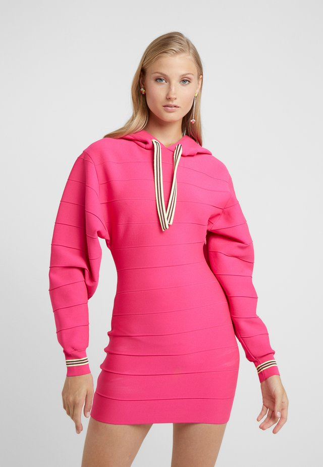 DRESS - Neulemekko - neon pink
