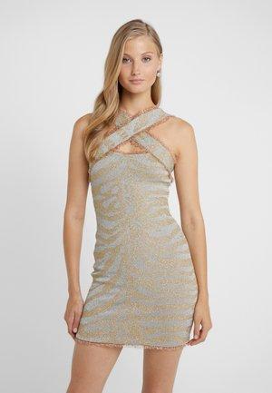 DRESS  - Robe fourreau - silver gold