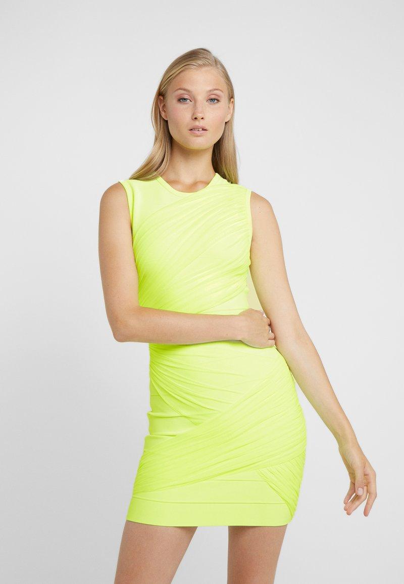 Hervé Léger - DRESS - Robe fourreau - neon yellow