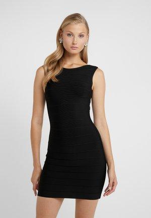 SLEEVELESS BANDAGE DRESS - Robe fourreau - black