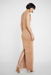 Hervé Léger - V-NECK DRESS - Společenské šaty - gold - 2