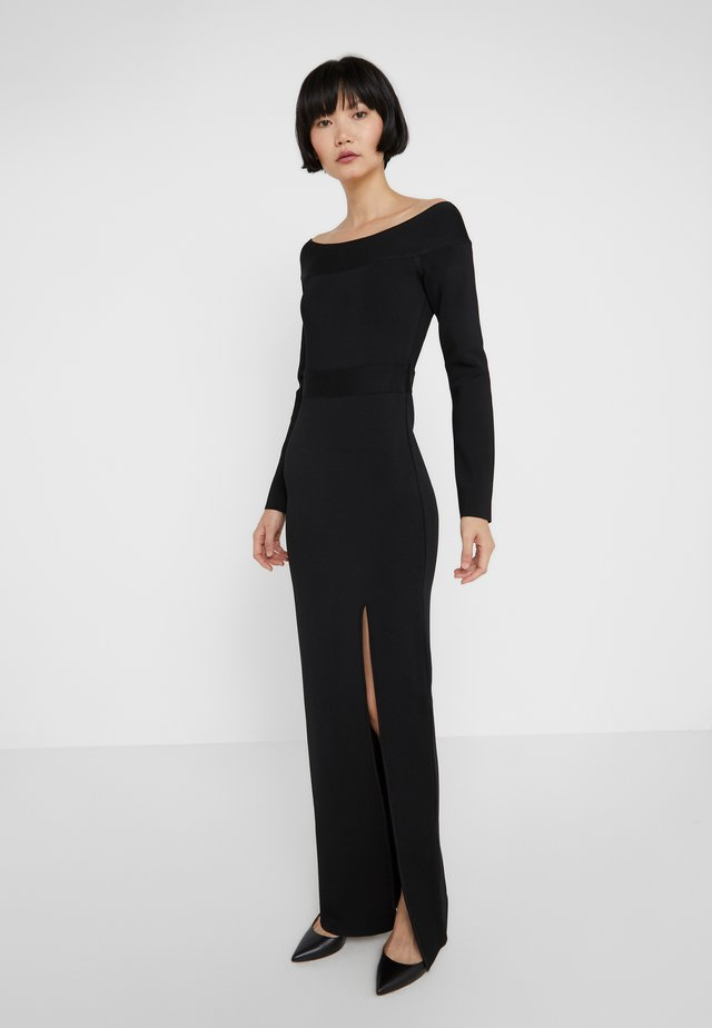 OFF THE SHOULDER LONG SLEEVE DRESS - Occasion wear - black