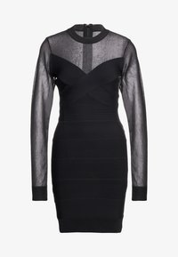 Hervé Léger - LONGSLEEVE MESH DRESS - Robe en jersey - black - 4