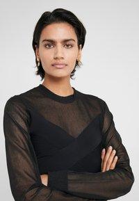 Hervé Léger - LONGSLEEVE MESH DRESS - Robe en jersey - black - 5