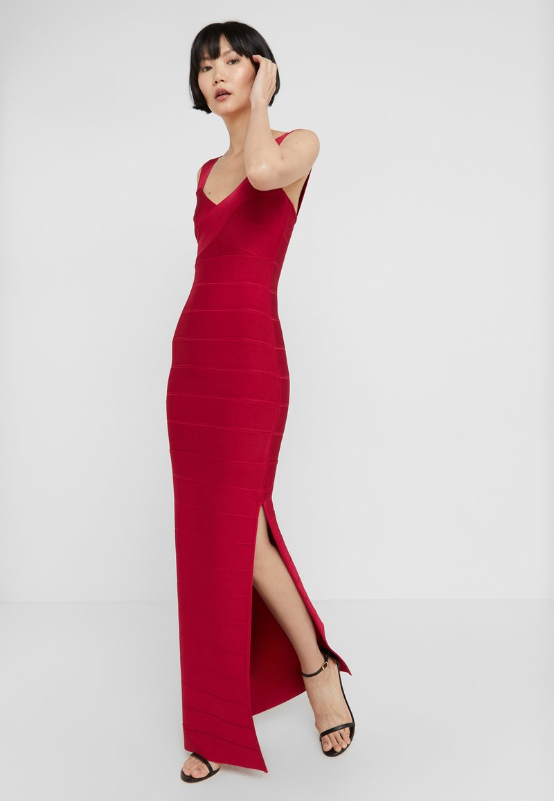 Hervé Léger - ICON-GOWN WITH SIDE SLIT - Robe de cocktail - rogue