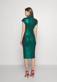 Hervé Léger - MOCK NECK DRESS - Shift dress - green - 2
