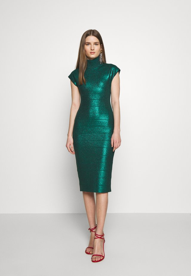 MOCK NECK DRESS - Shift dress - green