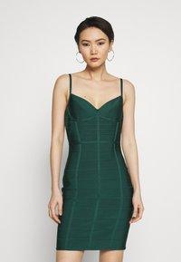 Hervé Léger - DRESS WITH BONING - Sukienka koktajlowa - bright elm - 0