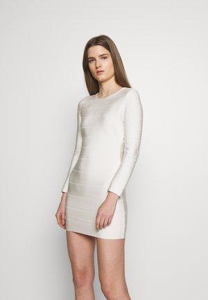 LONG SLEEVE BANDAGE DRESS - Robe fourreau - alabaster