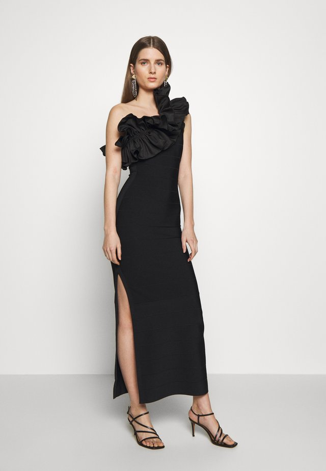 RUFFLE DRESS - Suknia balowa - black