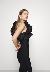 Hervé Léger - RUFFLE DRESS - Abito da sera - black