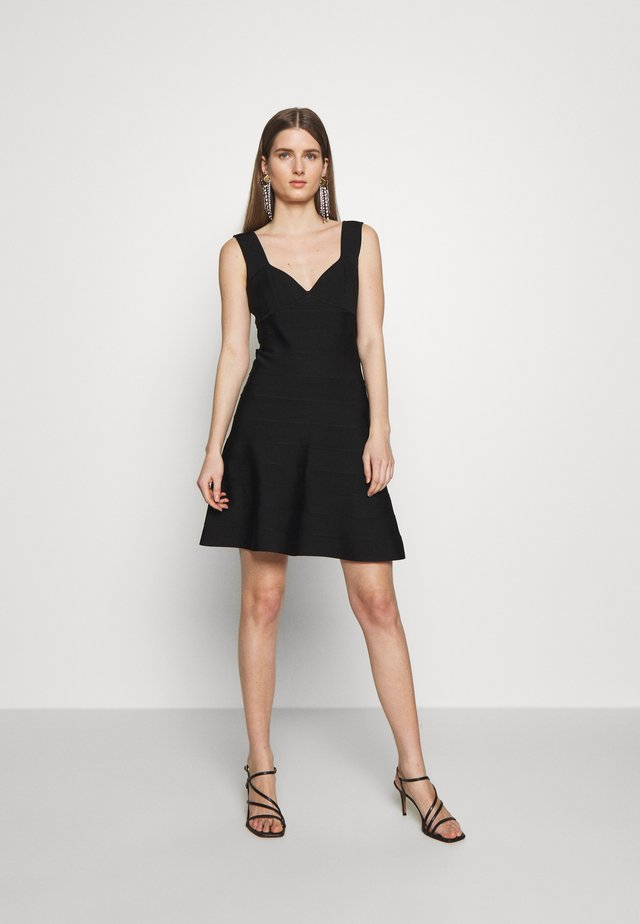ICON FLARE SKIRT DRESS - Sukienka z dżerseju - black