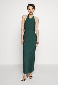 Hervé Léger - CREW NECK GOWN - Společenské šaty - bright elm - 0