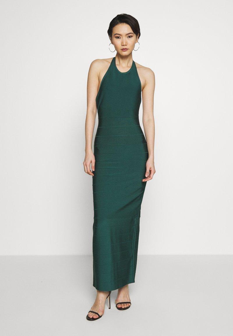 Hervé Léger - CREW NECK GOWN - Společenské šaty - bright elm