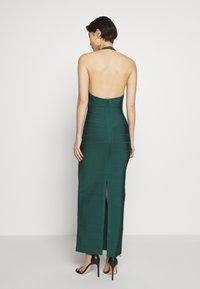 Hervé Léger - CREW NECK GOWN - Společenské šaty - bright elm - 2
