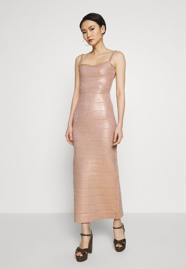 STRAPS GOWN - Occasion wear - rosegold