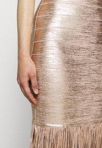 Hervé Léger - Sukienka koktajlowa - rose gold - 6