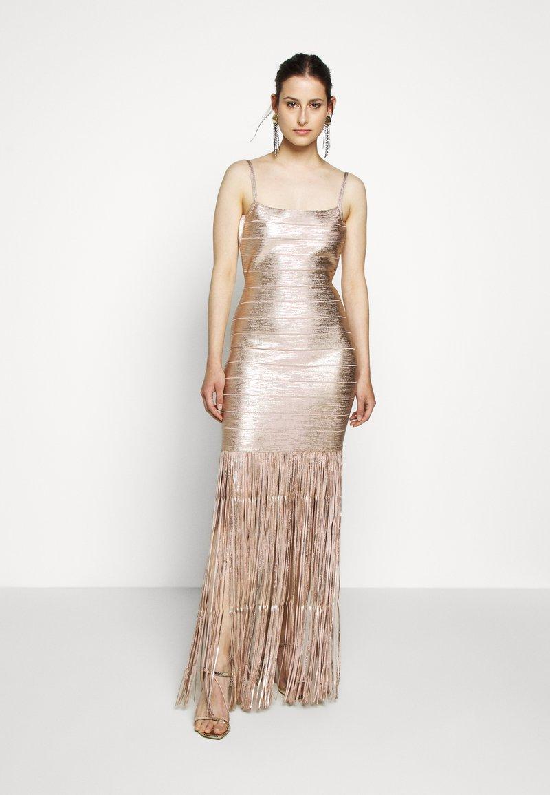 Hervé Léger - Sukienka koktajlowa - rose gold