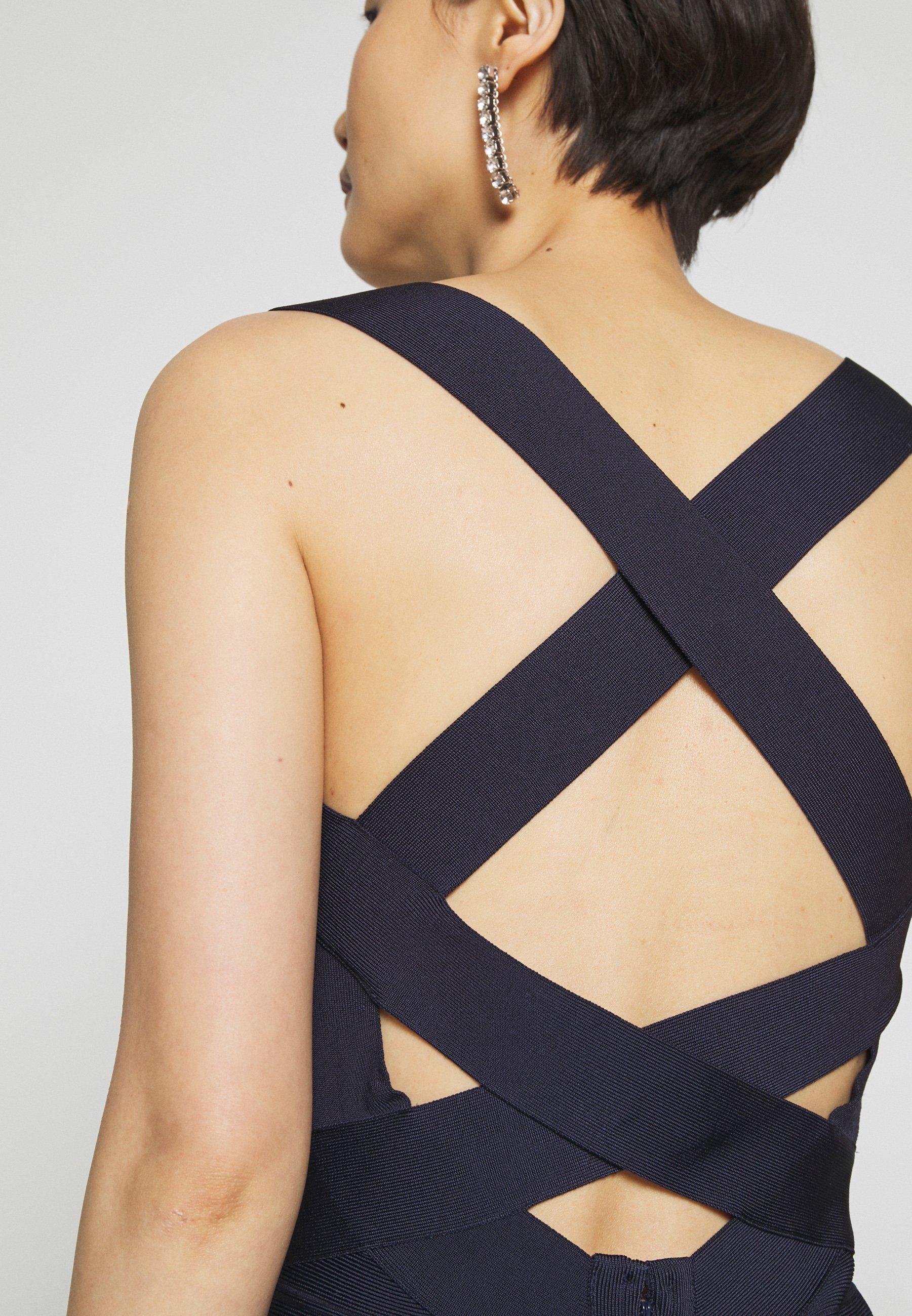 Hervé Léger New Icon Dress - Fodralklänning Dark Navy