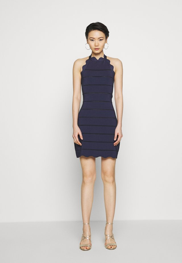 SCALLOP HALTERNECK - Jumper dress - navy