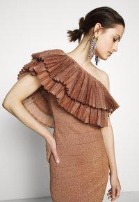 Hervé Léger - FRINGE GOWN - Vestito elegante - rose gold - 3