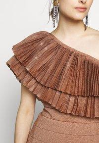 Hervé Léger - FRINGE GOWN - Vestito elegante - rose gold - 5