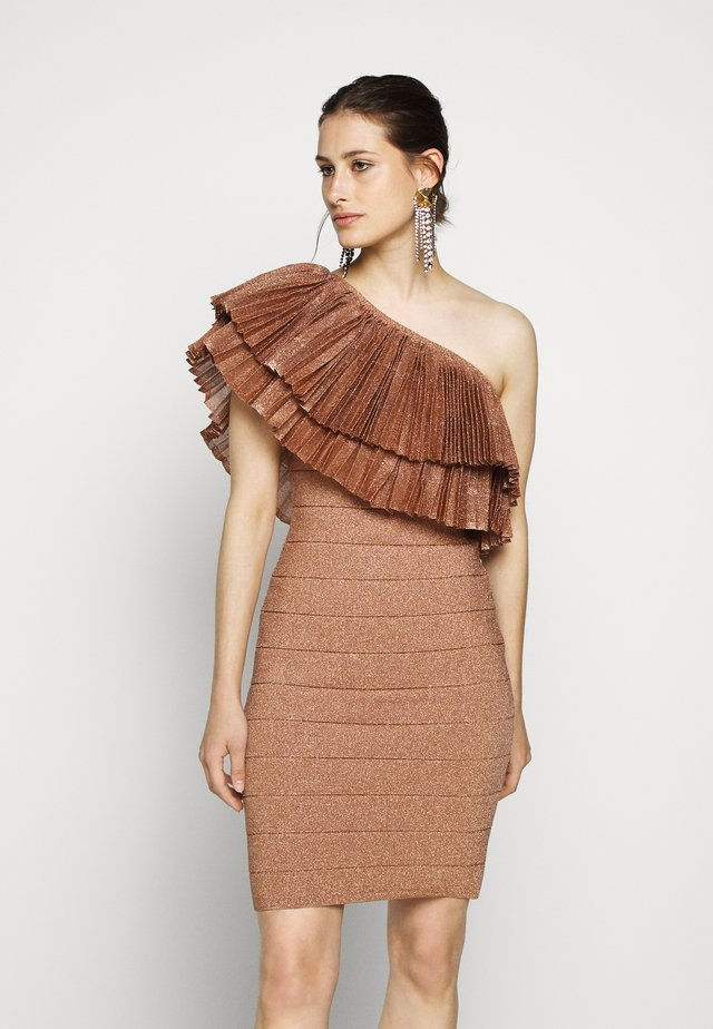 FRINGE GOWN - Cocktailklänning - rose gold