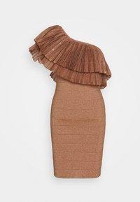 Hervé Léger - FRINGE GOWN - Vestito elegante - rose gold - 4