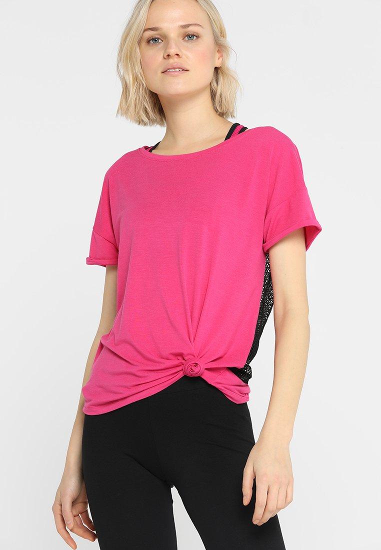 Hunkemöller - TEE TAPE - T-Shirt print - pink peakock