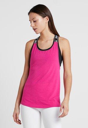 STRAPPY TANK RACER - Top - pink peakock