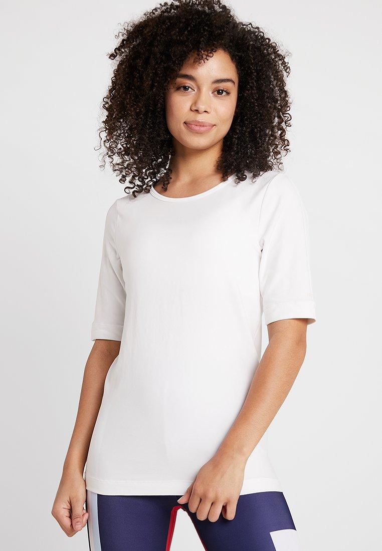 Hunkemöller - TEE SEAMLESS - Print T-shirt - white