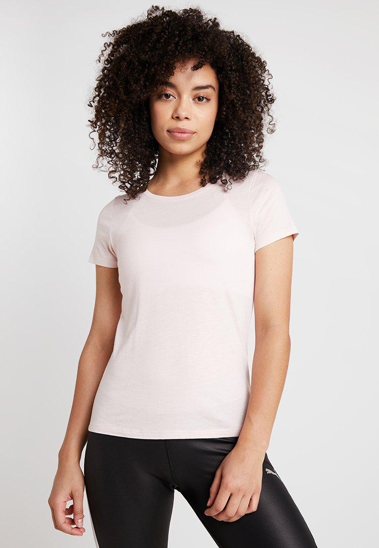 Hunkemöller - TEE SLIM FIT SMALL LOGO - Basic T-shirt - pink dogwood