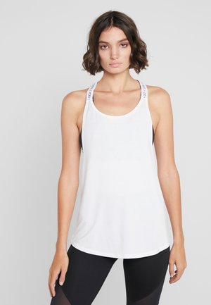 STRAPPY TANK TEXT - Top - bright white