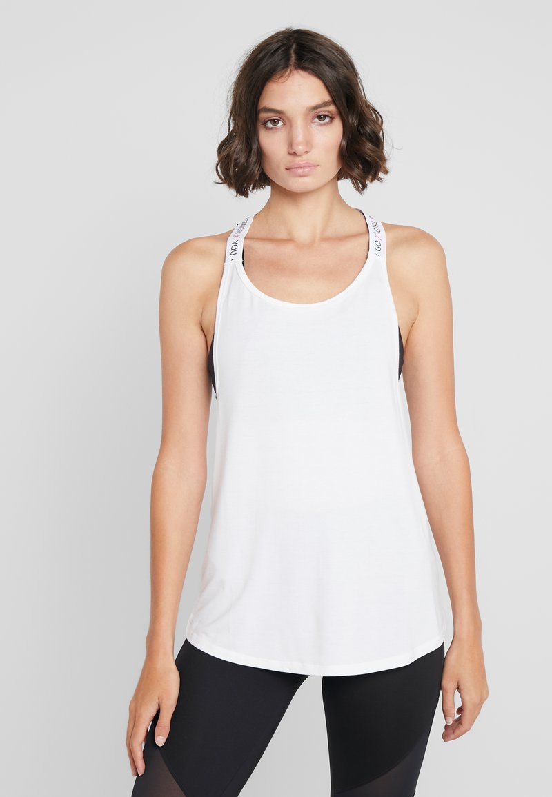 Hunkemöller - STRAPPY TANK TEXT - Top - bright white