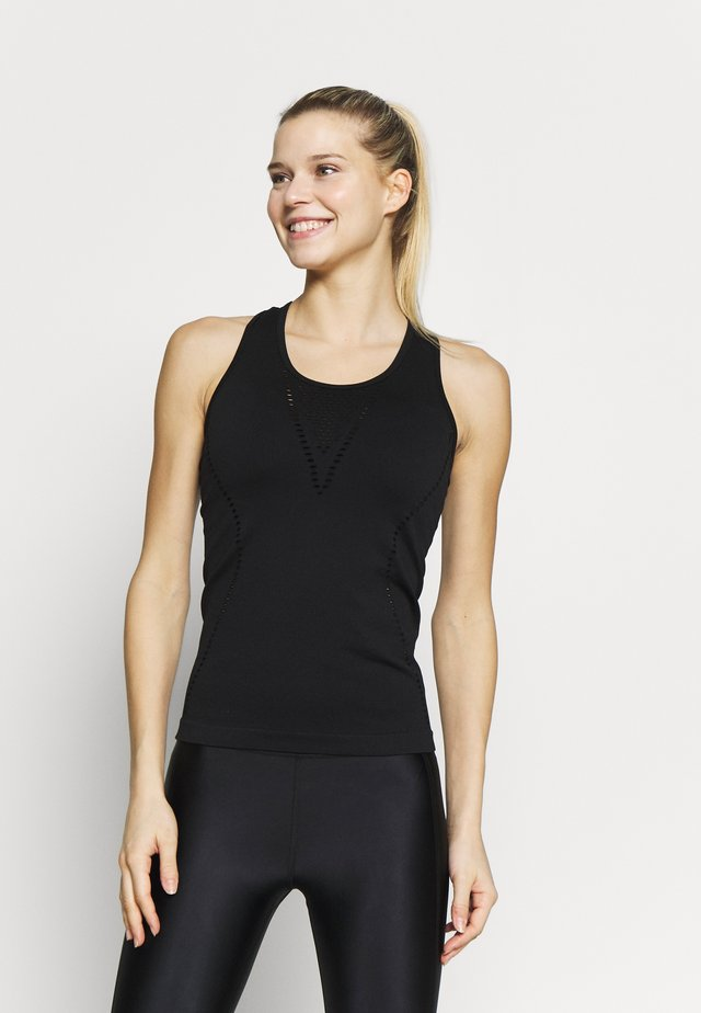 TANK TOP HIGH NECK - Toppe - black