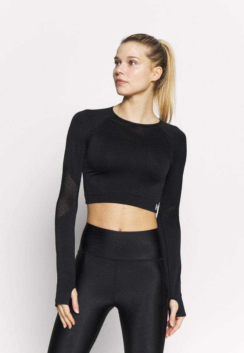 Hunkemöller - CROP - Langærmede T-shirts - black