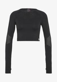Hunkemöller - CROP - Langærmede T-shirts - black - 3