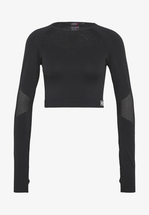CROP - Long sleeved top - black