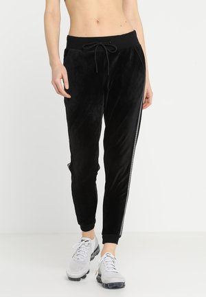 SLIM PANT VELOUR - Pantalon de survêtement - black