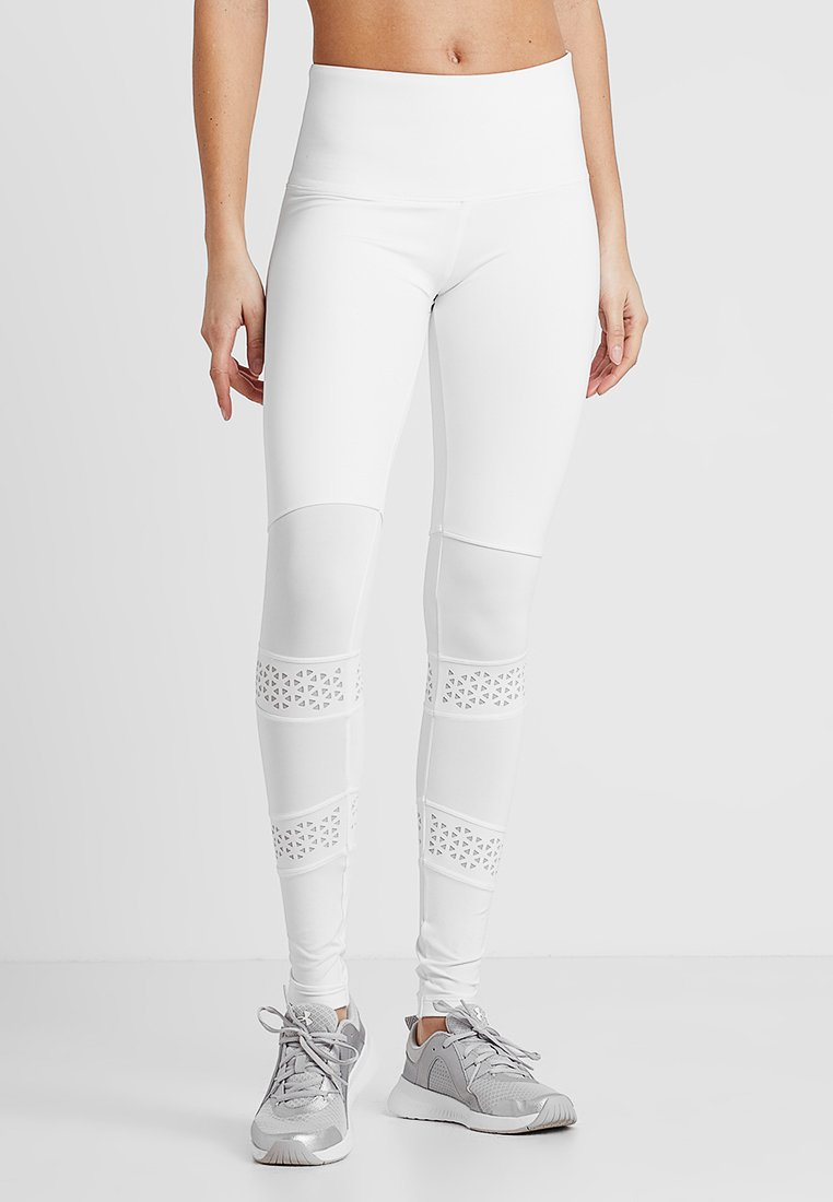 Hunkemöller - LEGGING LASERCUT - Collants - bright white