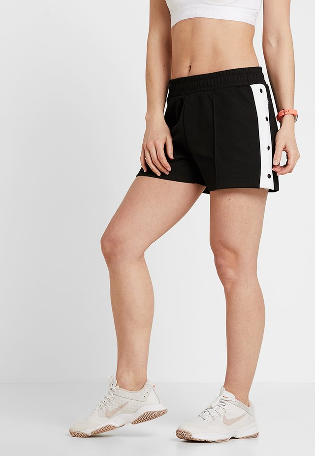 SHORT BUTTON  - Sports shorts - black