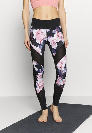 LEGGING FLOWER - Medias - black