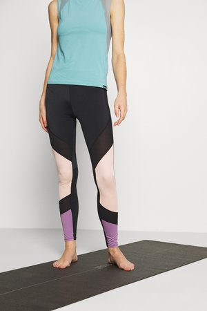 7/8 COLOURBLOCK  LEGGING - Pantalón 3/4 de deporte - black
