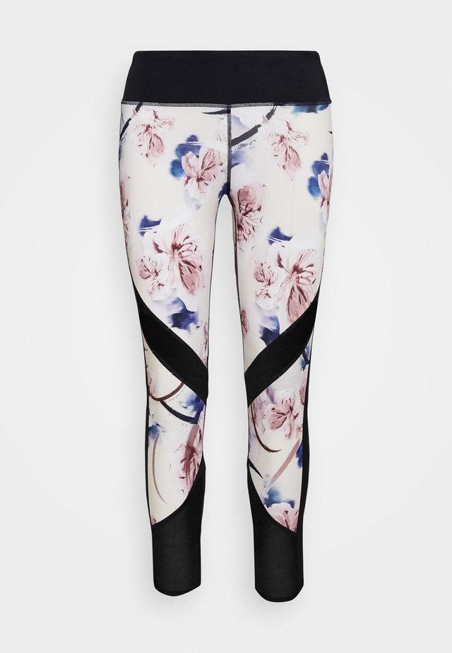 CAPRI FLORAL - 3/4 sportovní kalhoty - whisper pink